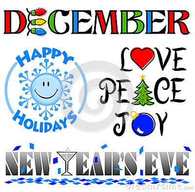 December month clipart.