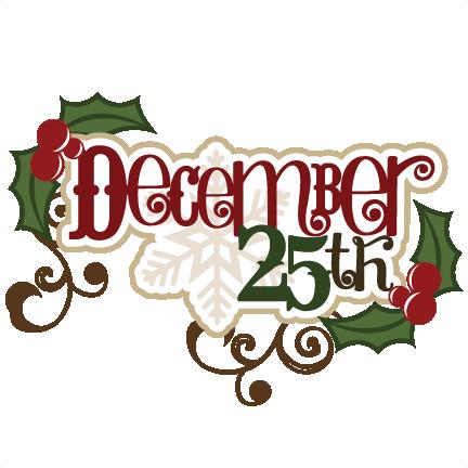 December 25 Clipart.