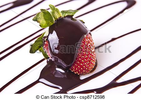 Pictures of Decadent Strawberry Chocolate Dessert.