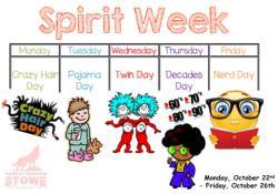 Stowe School Spirit Week October 22.
