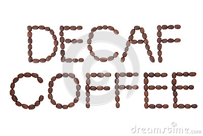 Decaf Coffee Sign Royalty Free Stock Images.