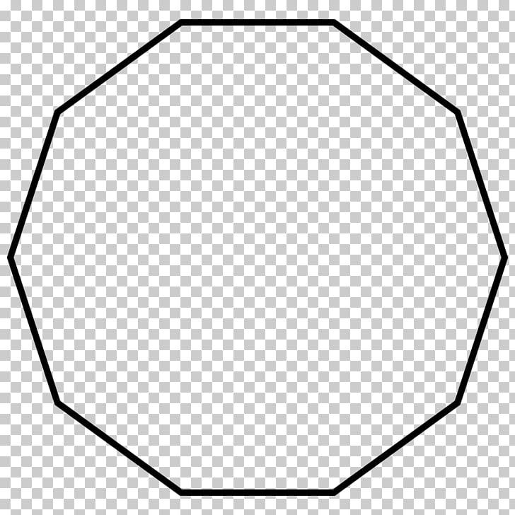 Decagon Regular polygon Internal angle Geometry, shape PNG.