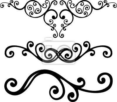 Sticker floral lines.