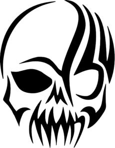 Tribal Skull Decal Clip Art at Clker.com.