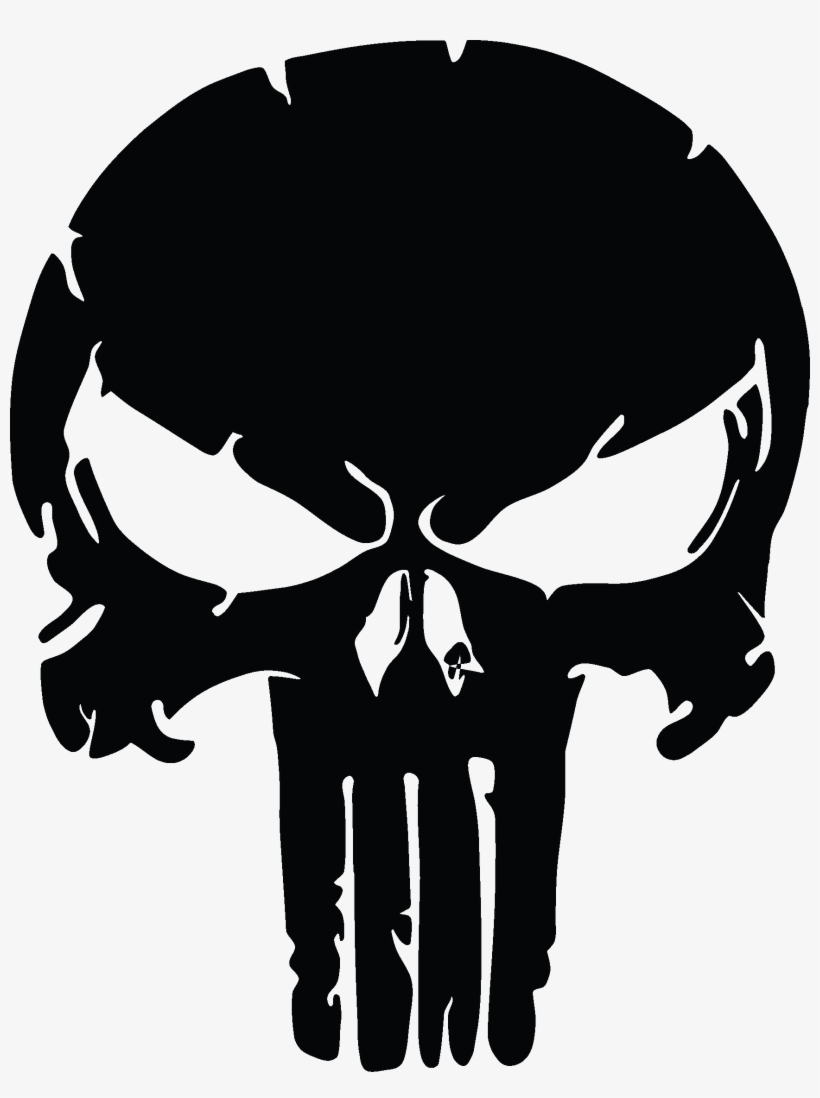 The Punisher Skull, Distressed Vinyl Graphic Decal.