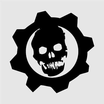 Gears of War Vinyl Decal Sticker.