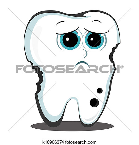 Teeth Decay Clipart.