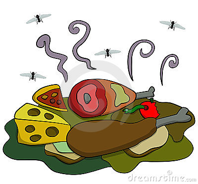 Rotting food clipart.