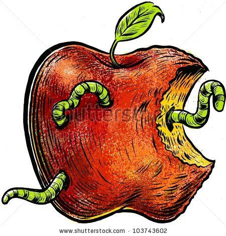 Apple rotting clipart.