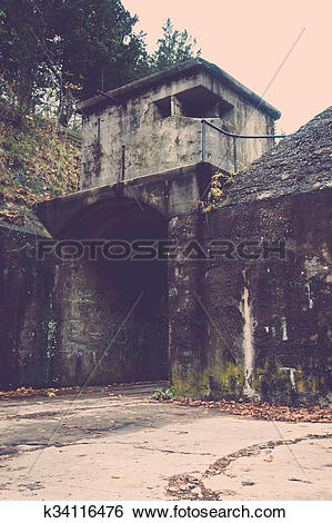 Stock Images of Decaying Structure at Military Base k34116476.