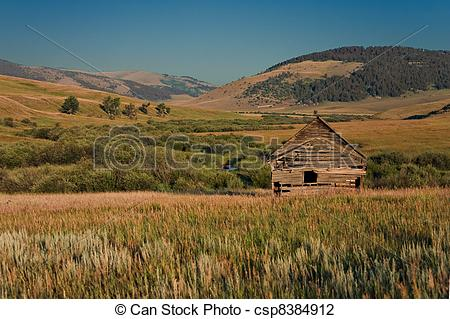 Stock Photo of decaying house on the praire.