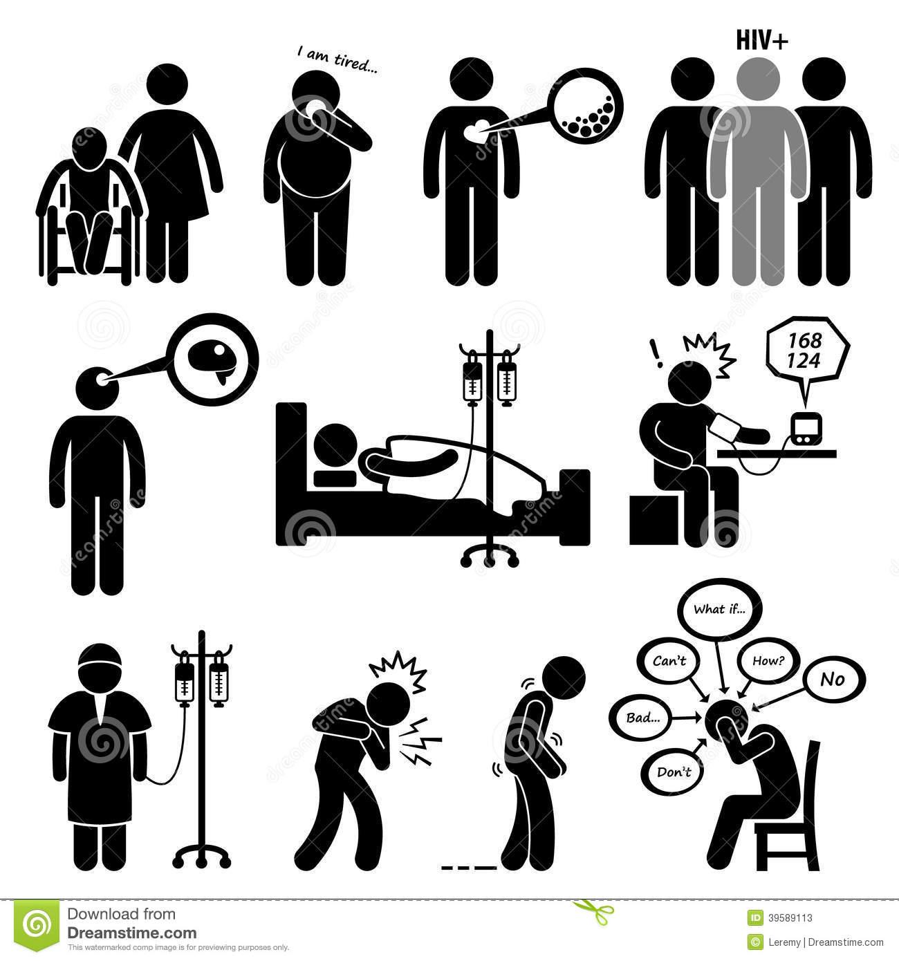 Illness Stock Illustrations.