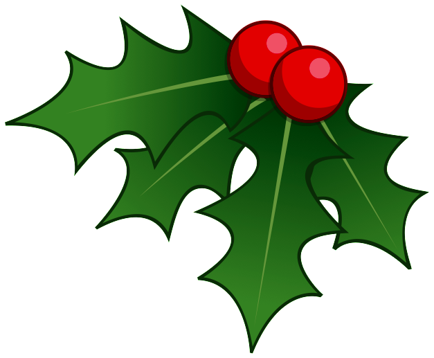 Holly clipart december 2016, Holly december 2016 Transparent.