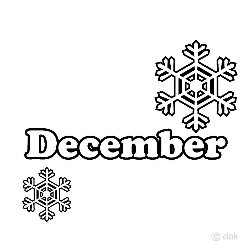 Snow Crystal and December Clipart Free Picture|Illustoon.