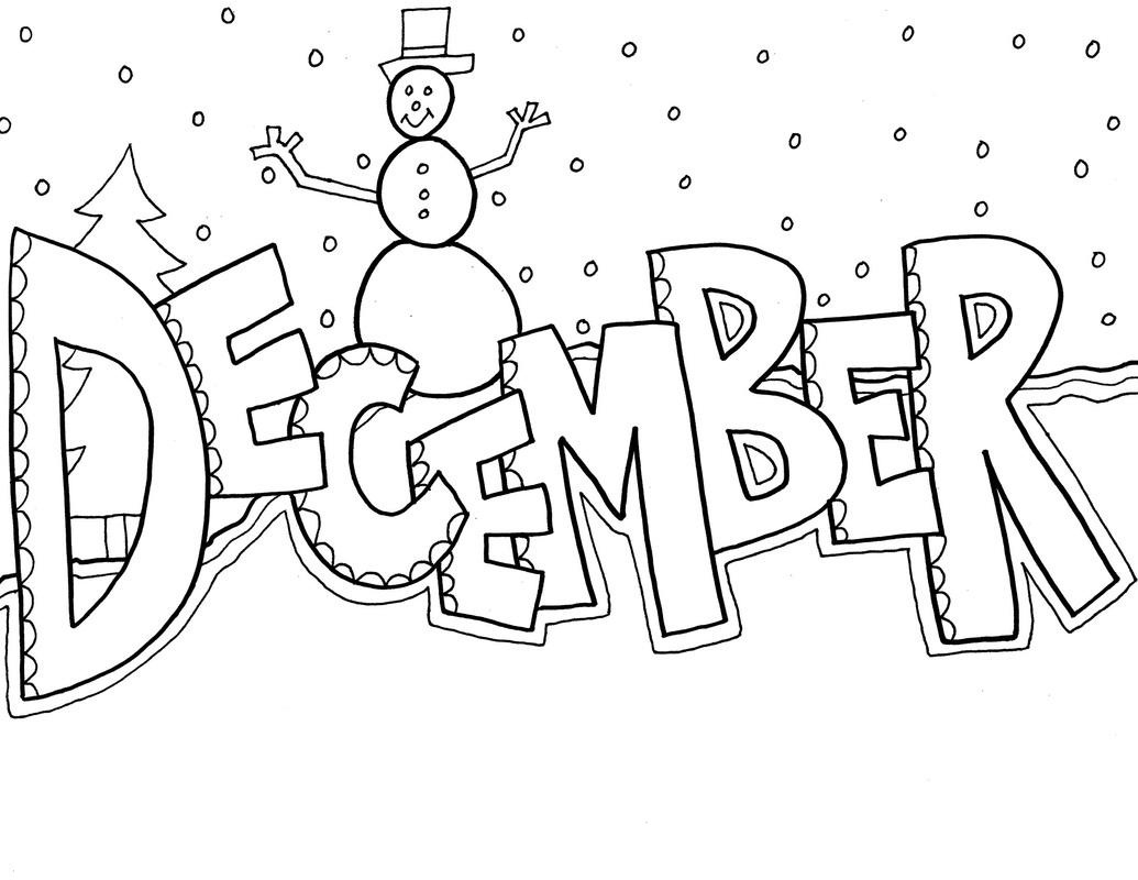 December clipart free black and white clipartxtras jpeg.