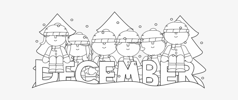 28 Collection Of December Calendar Clipart Black And.