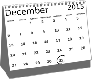 Calendar Dec 2015 Clip Art at Clker.com.