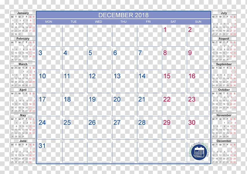Calendar September Holiday Month December, calendar 2018 transparent.