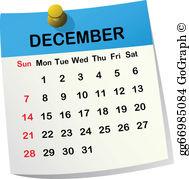 December Calendar Clip Art.