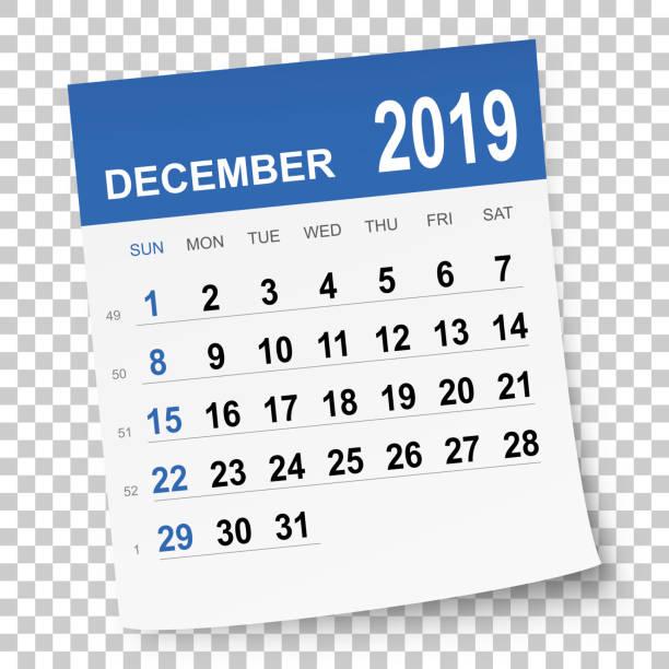Best December Calendar Illustrations, Royalty.