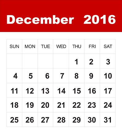 December calendar clipart 1 » Clipart Station.
