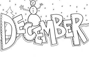 December clipart black and white » Clipart Portal.