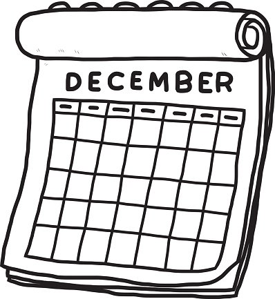 calendar of december Clipart Image.