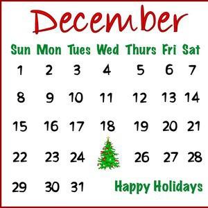 Calendar December Clipart.