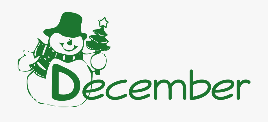 December Clipart December Word.