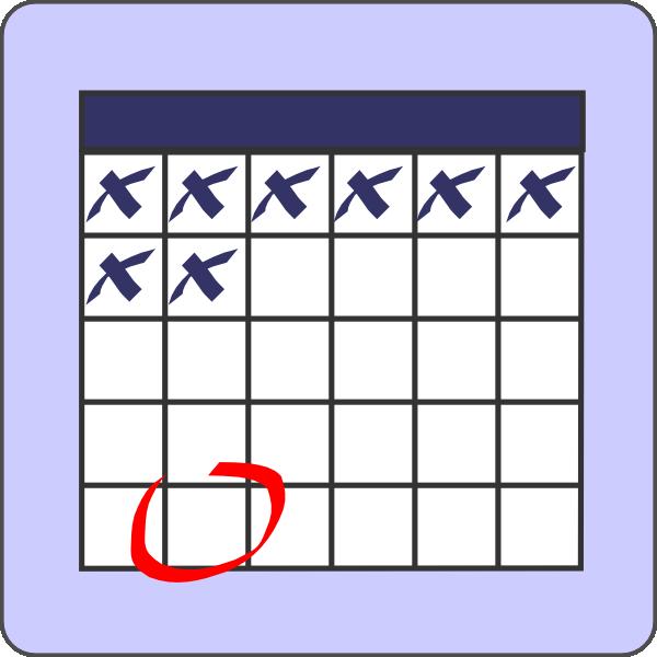 Blank Calendar Date Clipart.