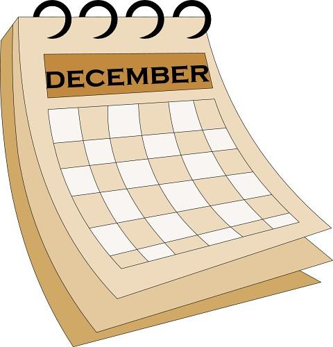 Clip Art Calendar December.