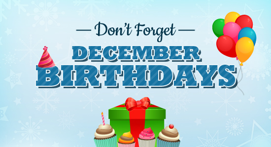 December Birthday Clipart Free.