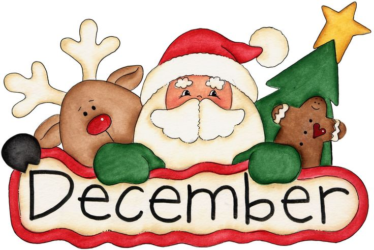 December Christmas Clipart.