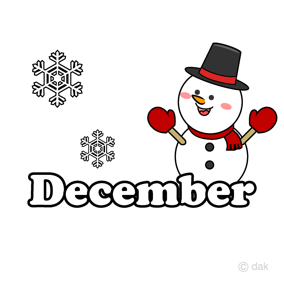 Snowman December Clipart Free Picture|Illustoon.