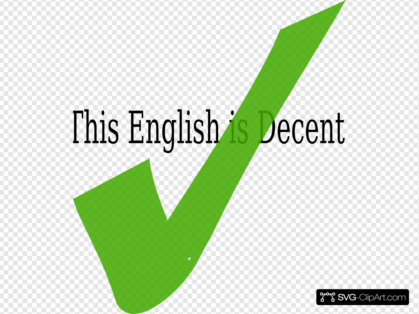 Decent English Clip art, Icon and SVG.