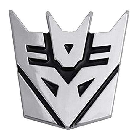 Automaze 3D Decepticon Logo Stickers For Car.