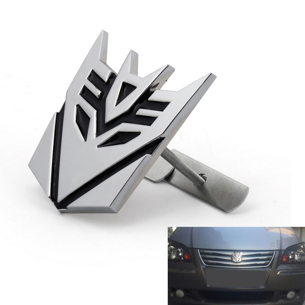 3D Car Transformers Decepticon Front Grille Grill Badge.