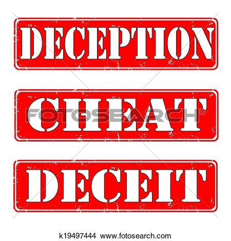 Clipart of deception,cheat,deceit k19497444.