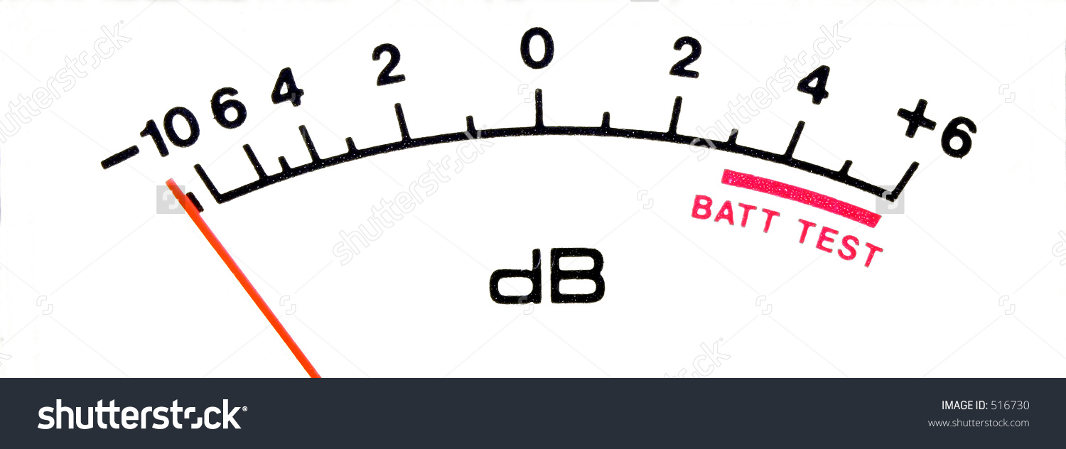 Db Sound Meter Scale Tight Stock Photo 516730.