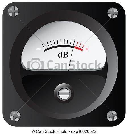 Clip Art of Measurement of sound intensity.