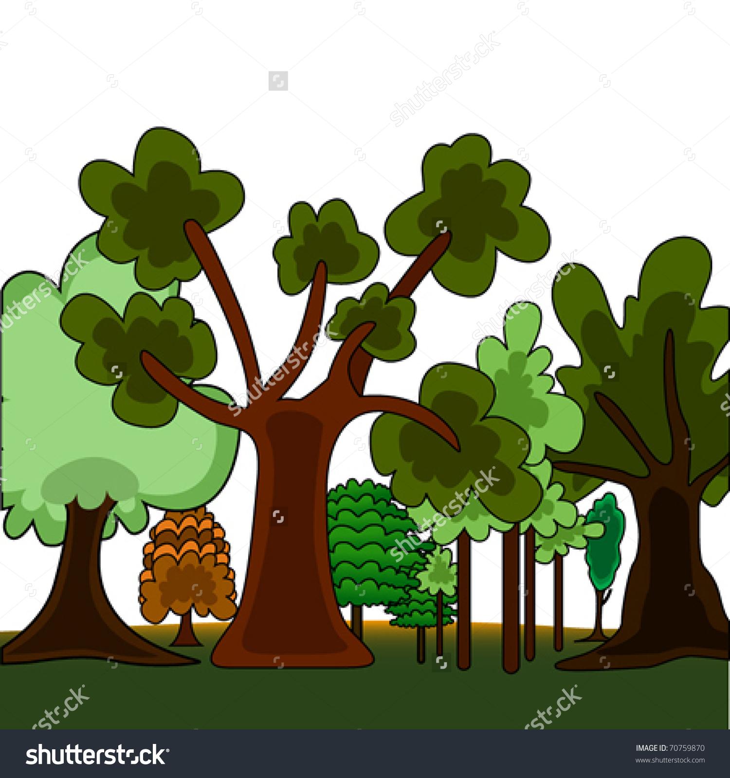 Deciduous Forest Clip Art.