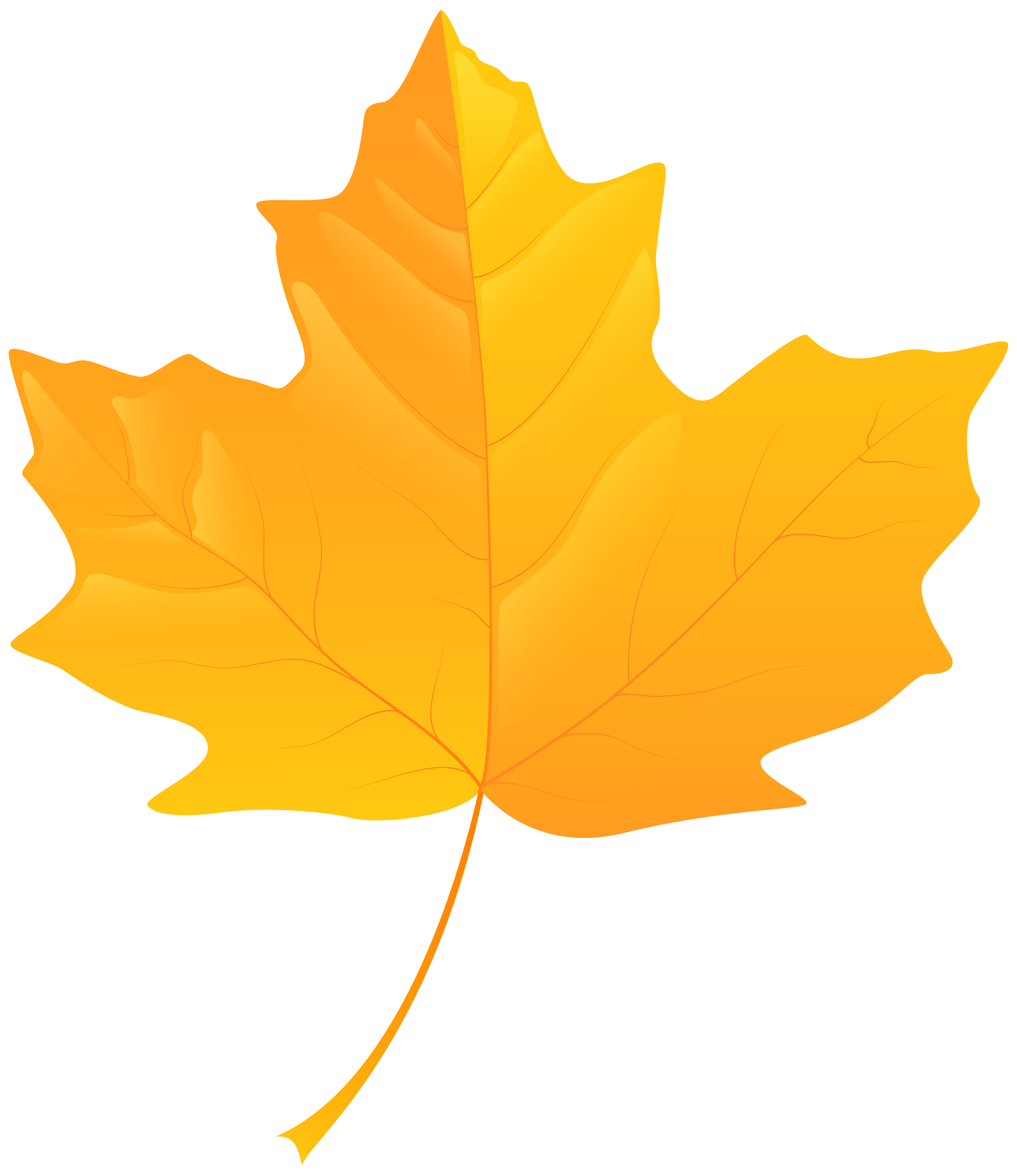 Yellow Leaf PNG Clip Art.