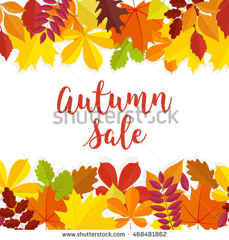 Autumn Leaves Watercolor On White Background Stock Vector.