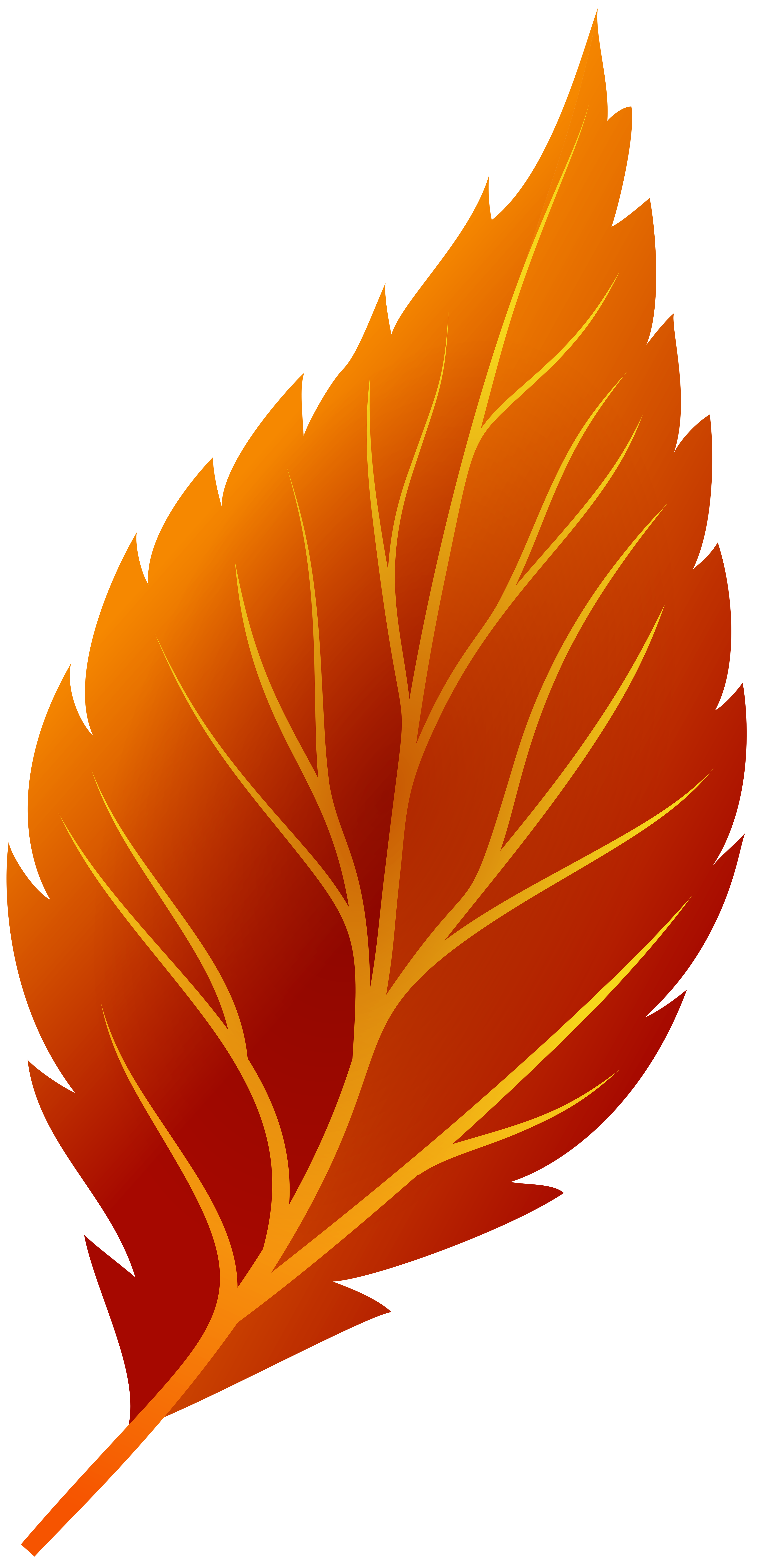 Red Autumn Leaf PNG Clip Art.