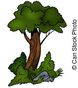 Drawing of Green Shrub.