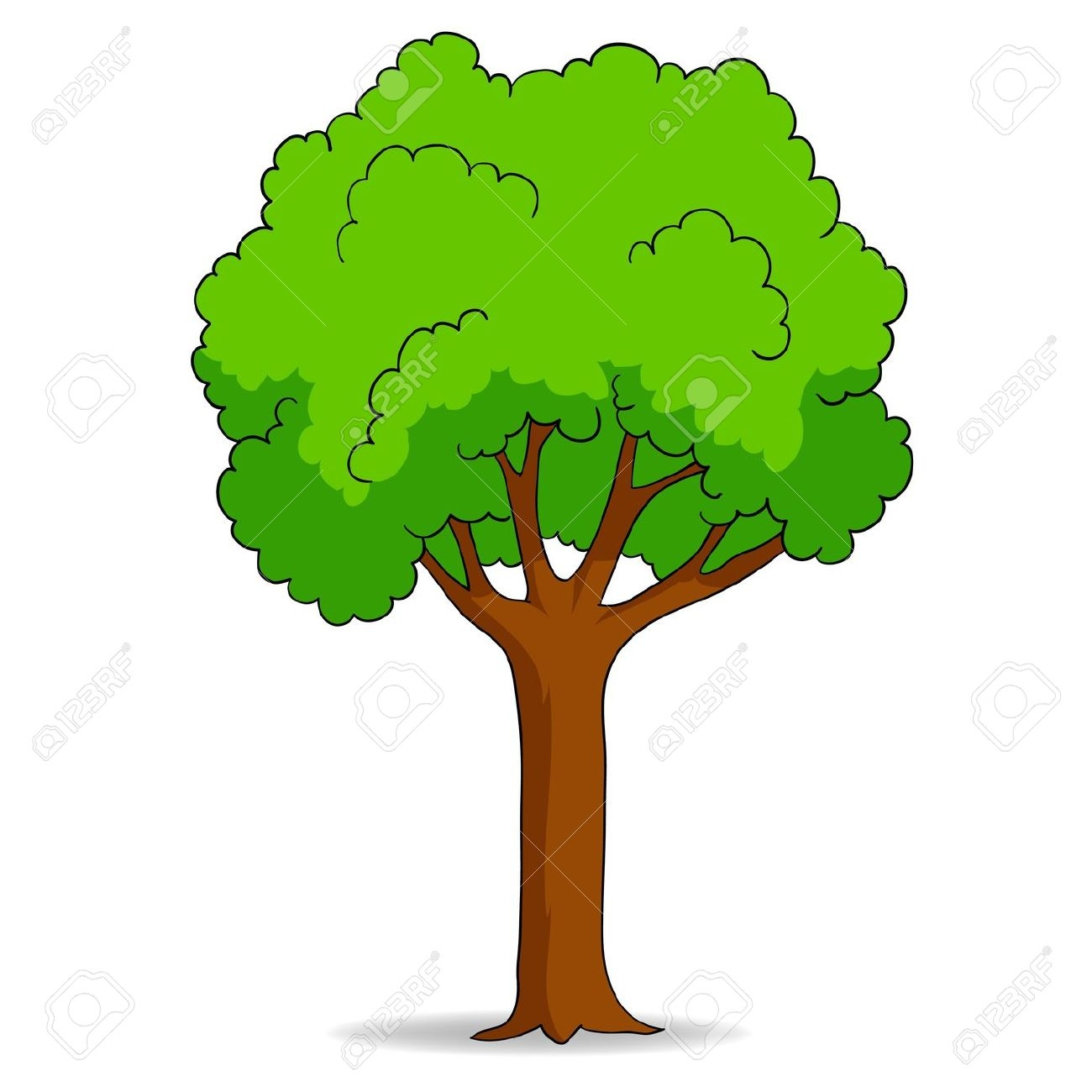 Deciduous Tree Clipart.