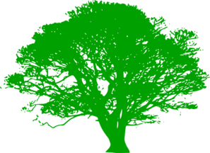 Green Tree Silhouette Clip Art at Clker.com.