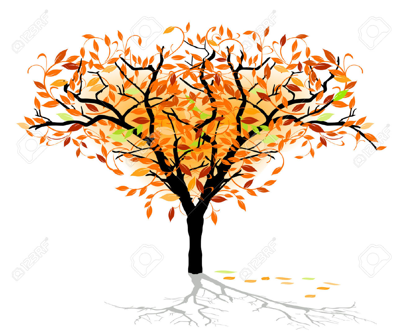 Autumnal Deciduous Tree Royalty Free Cliparts, Vectors, And Stock.