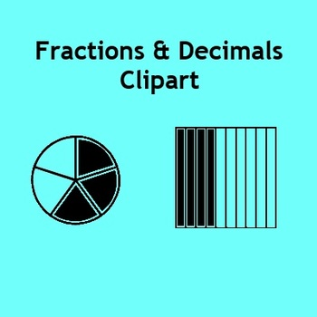 8 Fraction Clipart.