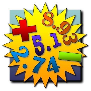 Decimal Numbers Clipart.